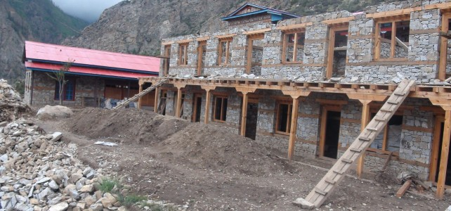 Nunnery Dormitory quarters are being constructed.